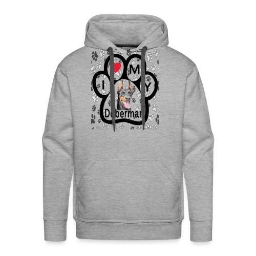 I love Doberman - Men's Premium Hoodie