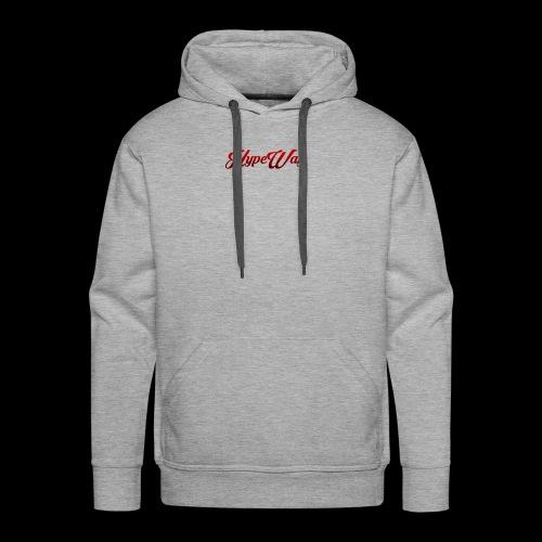 HypeWay Red Cursive - Men's Premium Hoodie