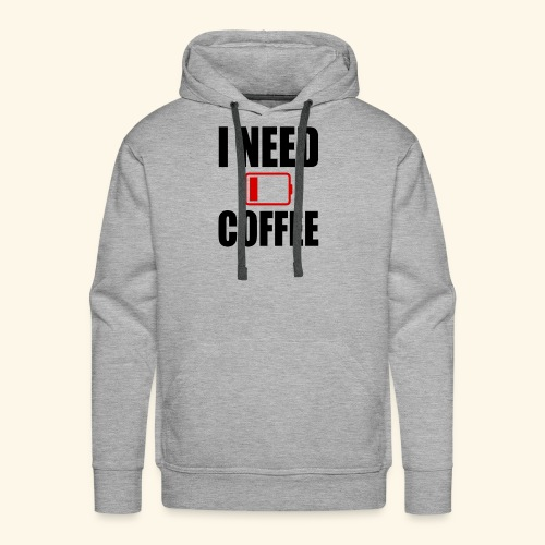 i need coffee black - Men's Premium Hoodie