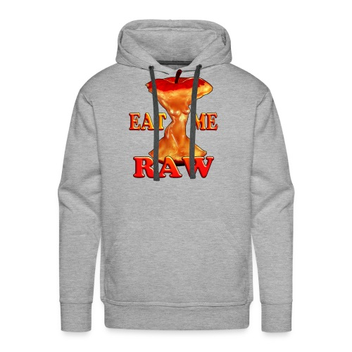eat me raw apple design - Men's Premium Hoodie