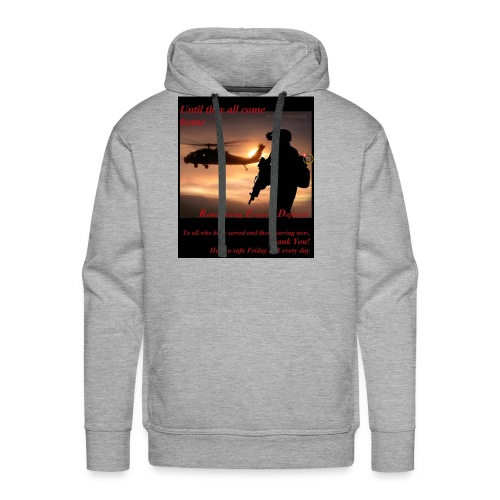 Red Friday respect the military - Men's Premium Hoodie