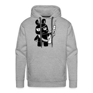 attack bunny transparent - Men's Premium Hoodie