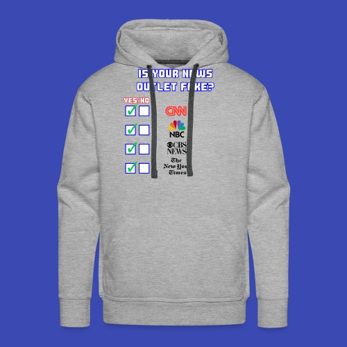 All About Fake News - Men's Premium Hoodie