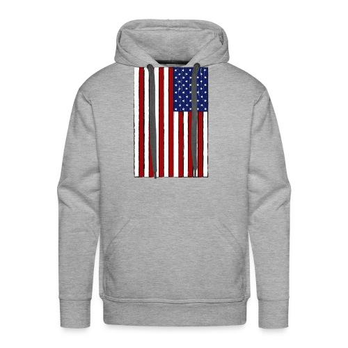 USA Flag (Distressed) - Men's Premium Hoodie