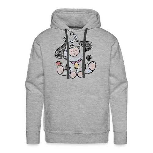 cow funny love animals and pets - Men's Premium Hoodie