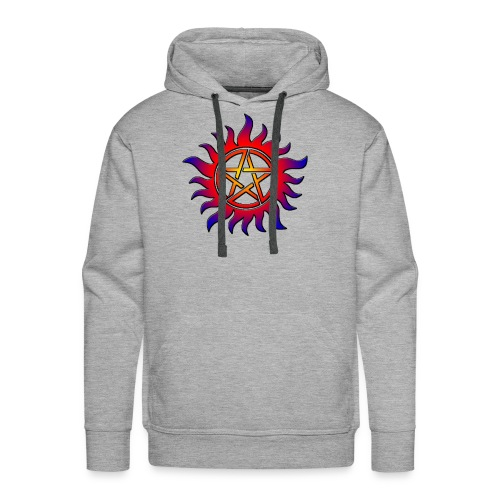 Anti Possession Symbol Sun Fire - Men's Premium Hoodie