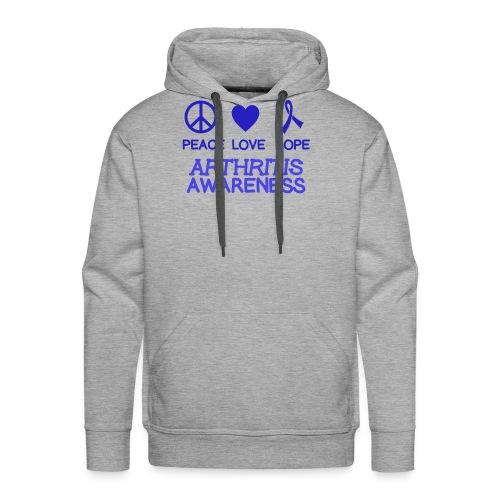 Arthritis awareness peace love hope - Men's Premium Hoodie