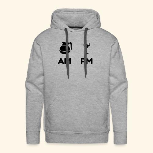 am pm Black - Men's Premium Hoodie