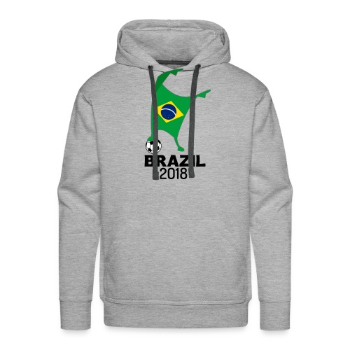 Brazil Flag 2018 Football Cup Soccer Dabbing World Jersey - Men's Premium Hoodie