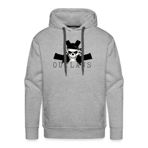 Outlaw Skull & Guns - Men's Premium Hoodie