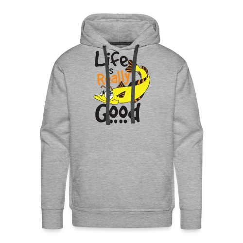 Life Is Really Good Fish Lovers Graphics - Men's Premium Hoodie
