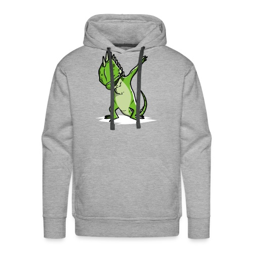 Funny Iguana Dabbing Pet Dab Dance - Men's Premium Hoodie