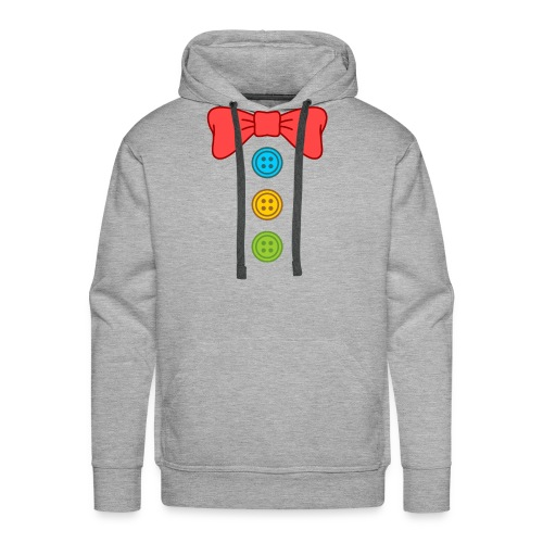 Clown Bow Tie and Buttons Costume Suit - Men's Premium Hoodie