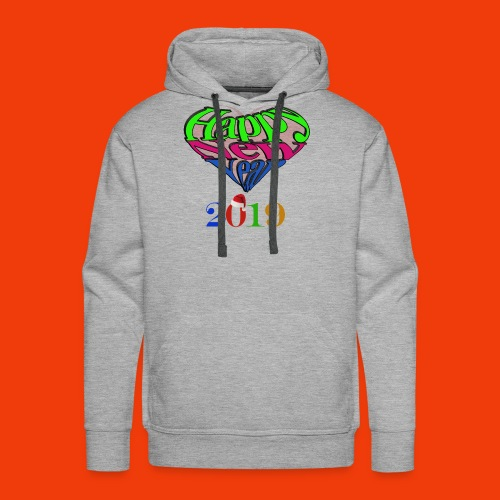 Happy new year 2019 T-shirt for all With heart - Men's Premium Hoodie