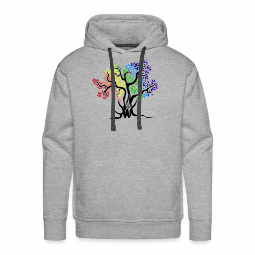 3WC Rainbow Tree - Men's Premium Hoodie