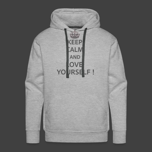 Keep Calm and Love Yourself - Men's Premium Hoodie
