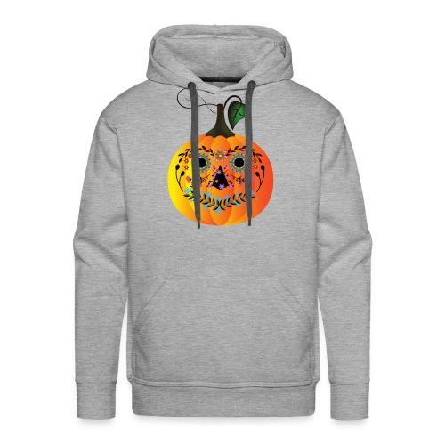 Sugar Skull Pumpkin - Men's Premium Hoodie