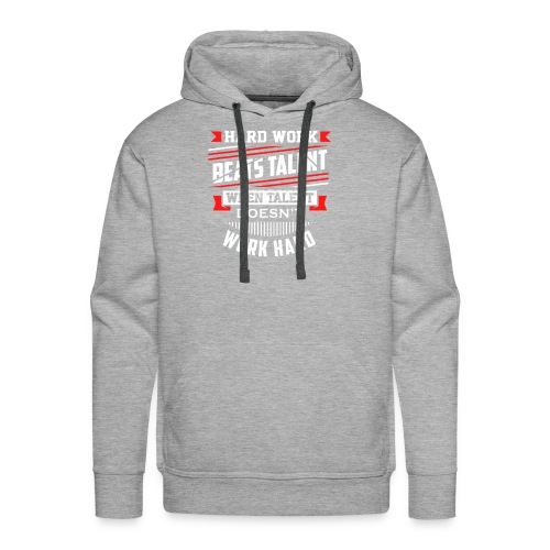 Hard Work Design - Men's Premium Hoodie