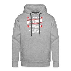 Hard Work Design - Men's Premium Hoodie