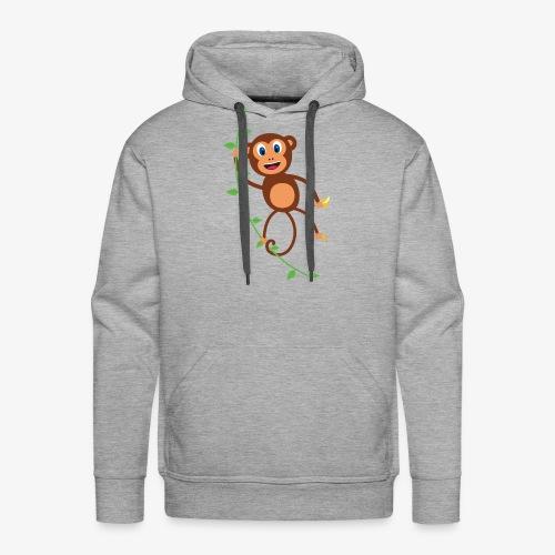 Funny Monkey Swinging On A Vine Merchandise - Men's Premium Hoodie