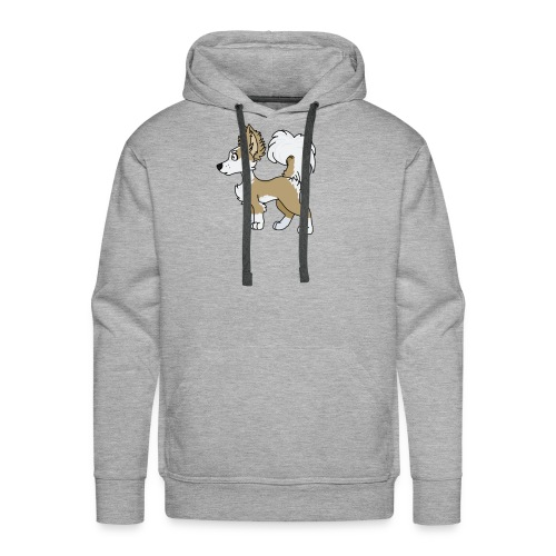 Long hair chihuahua cartoon profile - Men's Premium Hoodie