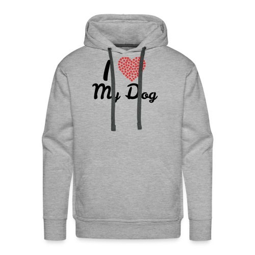 I love my dog - Men's Premium Hoodie