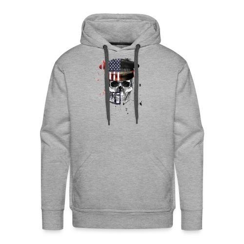American Flag Military Cap Skull collection - Men's Premium Hoodie