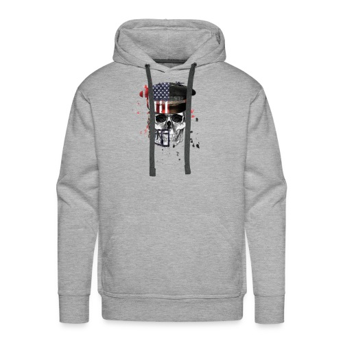 American Flag Military Cap Skull collection - Men's Premium Hoodie