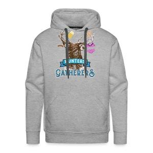 Funny Oktoberfest T Shirt Hunters Gatherers - Men's Premium Hoodie