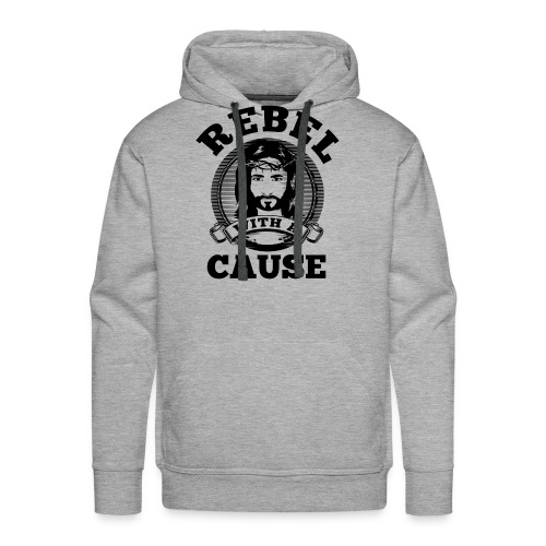 Rebel with a cause BLACK CLEAN SKIN print - Men's Premium Hoodie