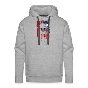 American Flag Skull 4th of July graphic Collection - Men's Premium Hoodie