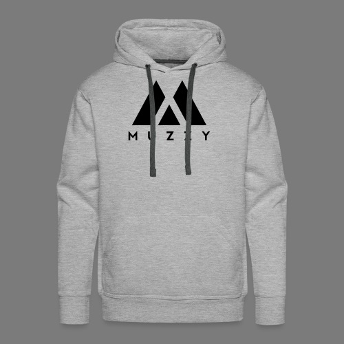 MUZZY Offical Logo Black - Men's Premium Hoodie