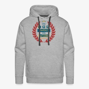 My Dog thinks AWESOME - Men's Premium Hoodie