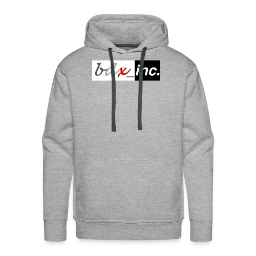 Solid Logo (Black+White) - Men's Premium Hoodie