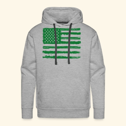 Free Denizens Legalize It US Cannabis Flag - Men's Premium Hoodie