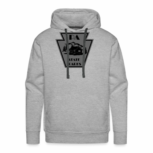 Keystone with Cabin Black and Grey - Men's Premium Hoodie