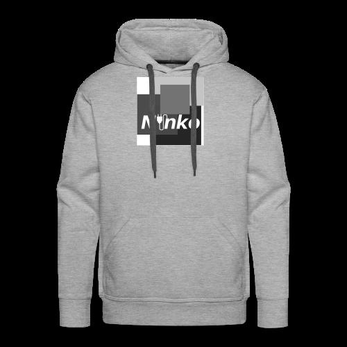 Ninko Black and White - Men's Premium Hoodie