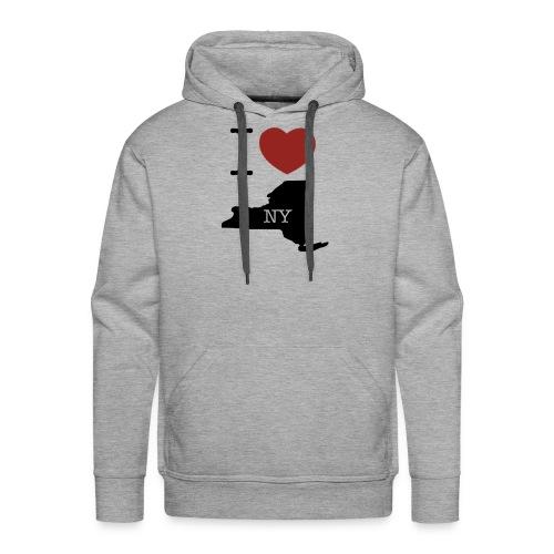 I Love NY T-Shirt - Men's Premium Hoodie