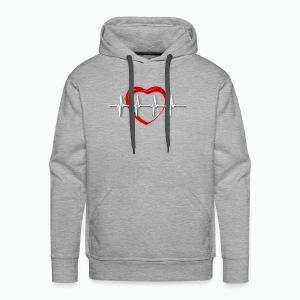 Nurse life heartbeat cardiac Nurse - Men's Premium Hoodie
