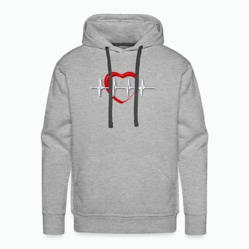 Nurse life heartbeat cardiac Nurse - Men's Premium Hoodie