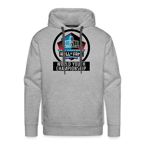 PFHOF World Youth Champ White Outline - Men's Premium Hoodie