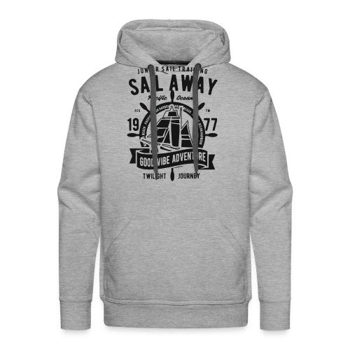 sail away good vibe adventure 1 - Men's Premium Hoodie