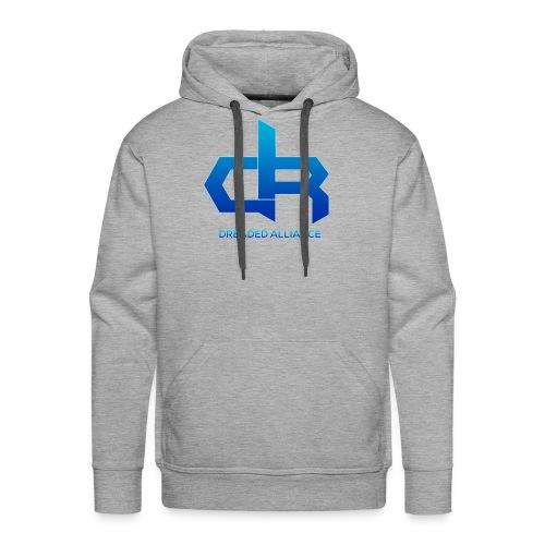 Blue Fade Dreaded Logo! - Men's Premium Hoodie