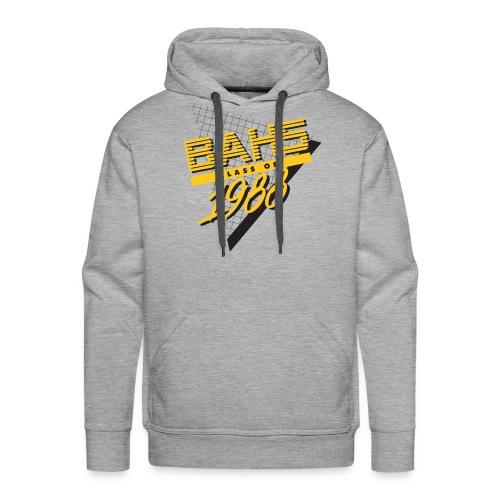 Black and Yellow Logo for Gray Shirt - Men's Premium Hoodie