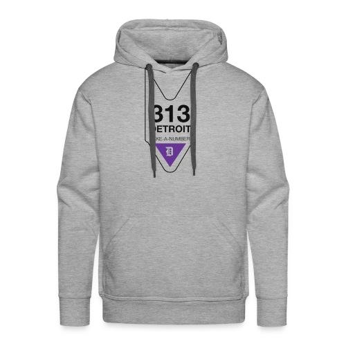 Take A Number Detroit Tee - Men's Premium Hoodie