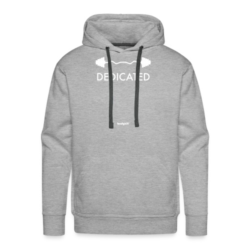 Dedicated Fitness Graphic Tee on Dark - Men's Premium Hoodie