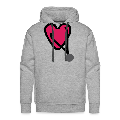 Heart Stethoscope - Men's Premium Hoodie