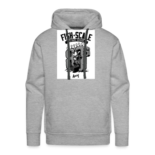 fish scale design - Men's Premium Hoodie