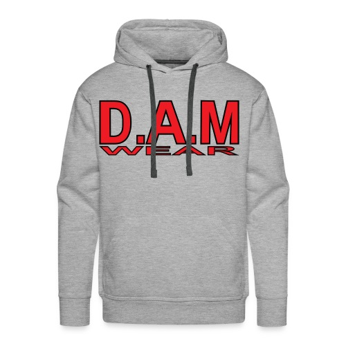 BIG RED D A M LETTERS - Men's Premium Hoodie