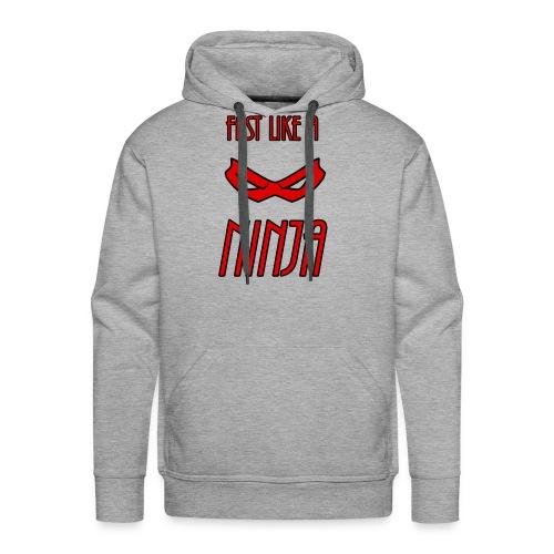 Fast_Ninja_Red - Men's Premium Hoodie